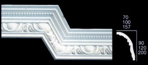 Medium Egg and Dart With Bead Cornice