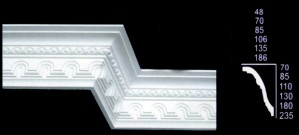 Tunnel and Egg Design Cornice