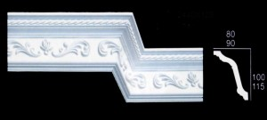 Small Leaf Scroll and Beaded Cornice