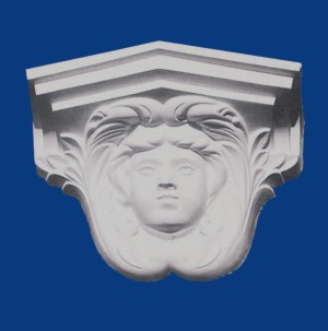 Womans Face Corbel